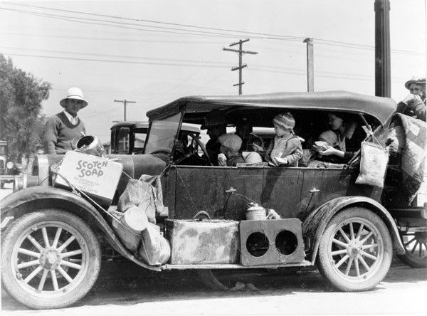 1930s Great Depression Migrant Workers Headed for California