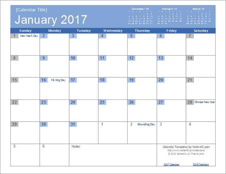 Best  January  Calendar Template Ideas On