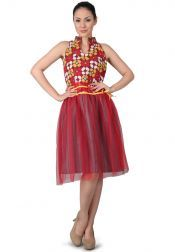 TRE Batik  TRE Batik Fancy Party Dress Red