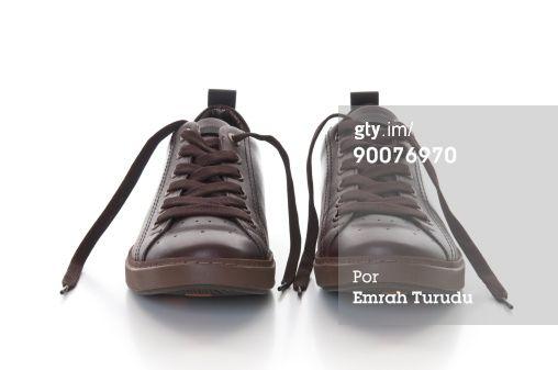 Foto de stock : Mans brown leather shoes