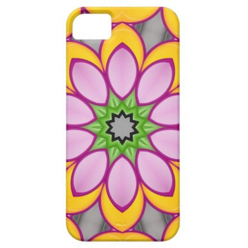 Bright colored flower iPhone 5 cases