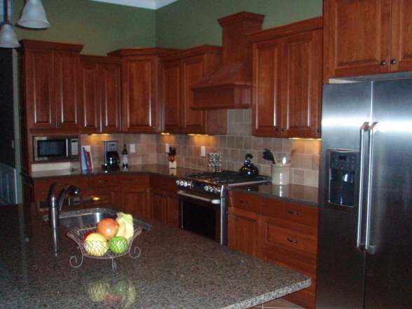 Kitchen Ideas Cherry Cabinets 45 best kitchen backsplash ideas images on pinterest | backsplash