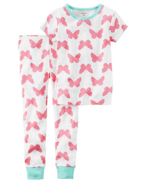 Toddler Girl 2-Piece Snug Fit Cotton PJs from Carters.com. Shop clothing & accessories from a trusted name in kids, toddlers, and baby clothes.