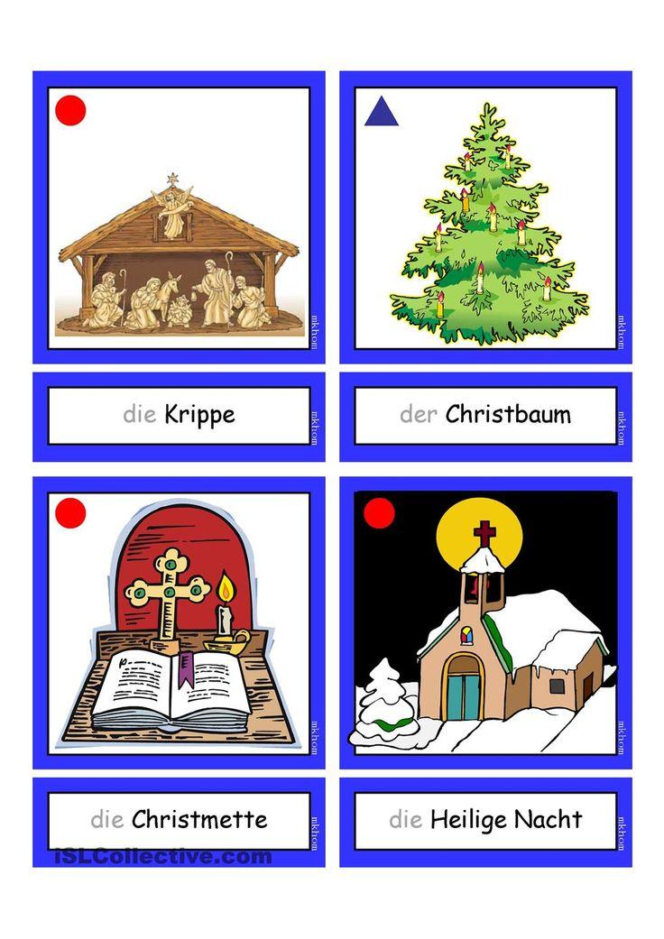 flashcards weihnachten 1 tyska deutsche weihnachten. Black Bedroom Furniture Sets. Home Design Ideas