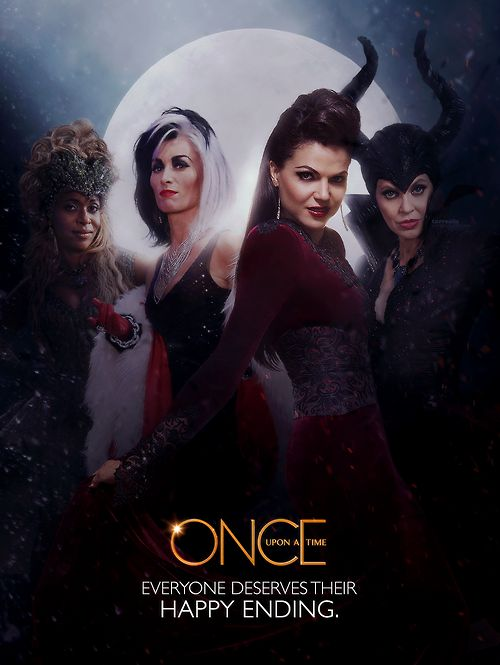 Awesome Maleficent Evil Queen Regina Cruella Ursula the awesome #QueensofDarkness Once S4