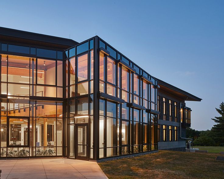 This impressive structure, the R.W. Kern Center at Hampshire College, with state of the art lightning protection, won the prestigious Living Building Challenge for sustainability.  Designed by Bruner/Cott Architects.  Image credit: Robert Benson Photography.