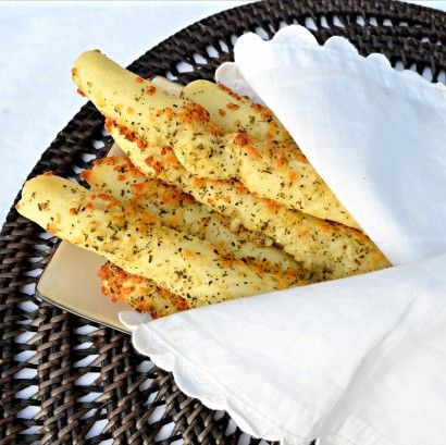 Easy Cheesy Garlic And Herb Breadsticks - warm,crunchy on the outside.. soft,chewy on the inside