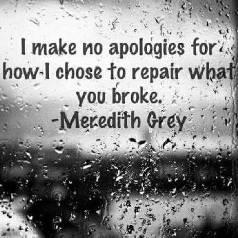 I make no apologies for how I chose to repair what your broke....