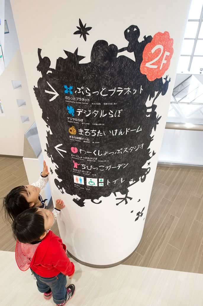 GALAXCITY : Signage design using kids drawings