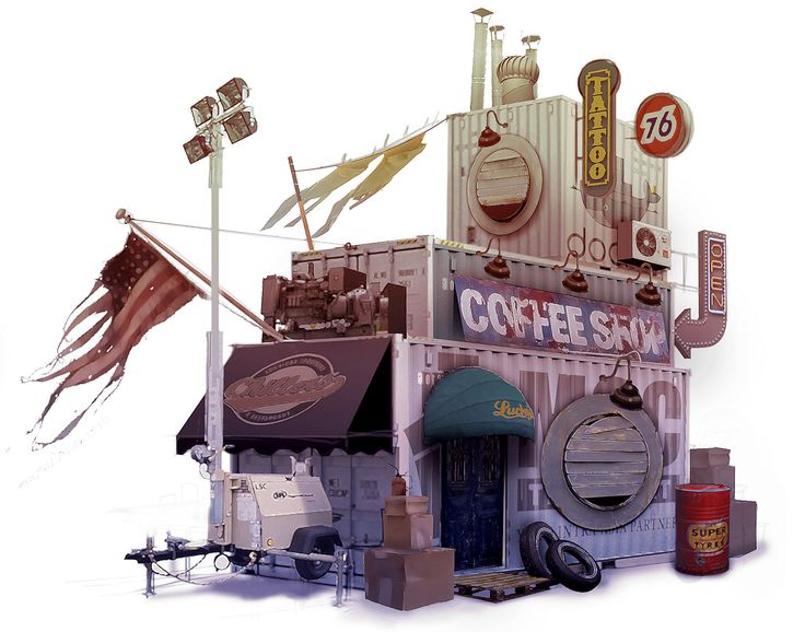 ArtStation - Container City Dwelling, Michael Kelly