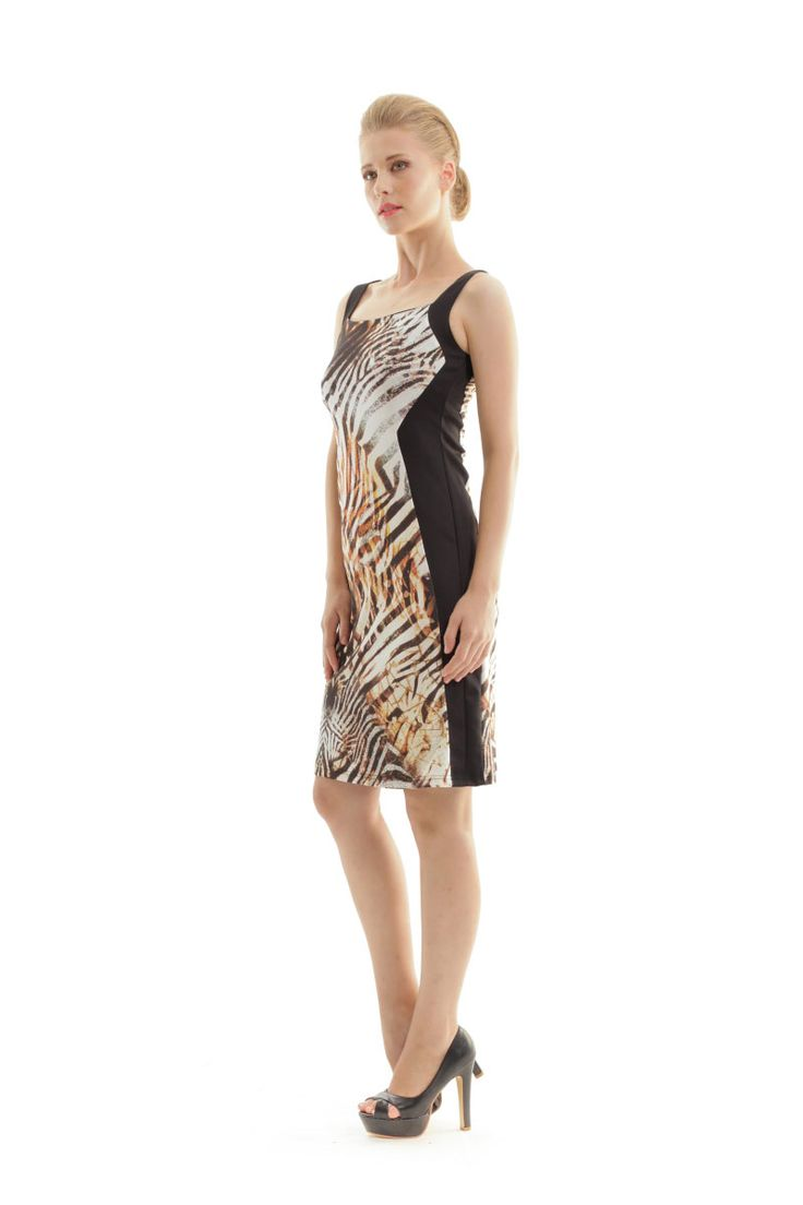 Your favorite pattern is BACK on your must-have pieces! Shop the animal print dress in fitted silhouette and make your fashion statement with brown and black shades!  Celebrate spring with FASHION! Don't miss a piece!