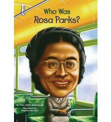 Biography. Rosa Parks sat in the front of the bus and did not move for a white person so she got arrested.