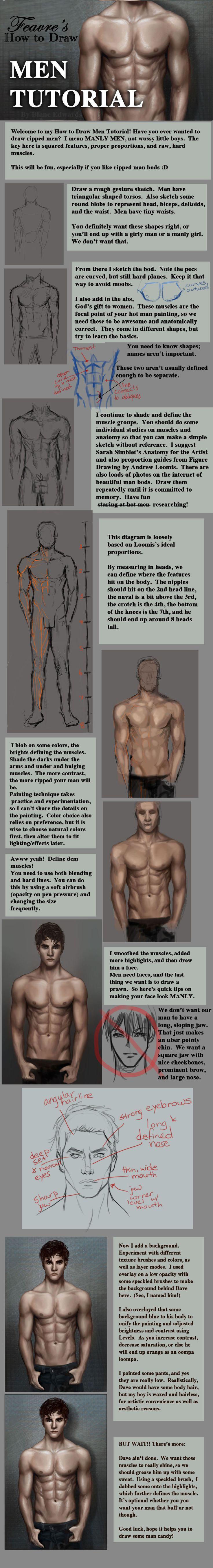 How to Draw Men Tutorial by feavre.deviantart.com on @deviantART
