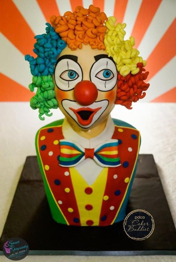 PDCA Caker Buddies Dessert Table Collaboration - Mr. Clown (Part 1 of 4 Circus Theme) by Sweet Rhapsody Cake Art Studio