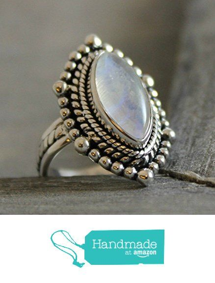 Marquise Cabochon Moonstone Sterling Silver Ring, size 7 from Sophia Rose Jewellery https://www.amazon.com/dp/B01M1XWLUE/ref=hnd_sw_r_pi_dp_0FJ.xb9Q8SQ15 #handmadeatamazon