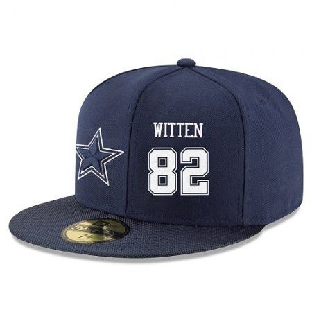 Dallas Cowboys Hat - Snapback 59 Fifty -#82 Jason Witten Blue Embroidery