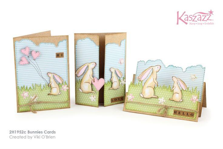 2H1952c Bunnies Cards