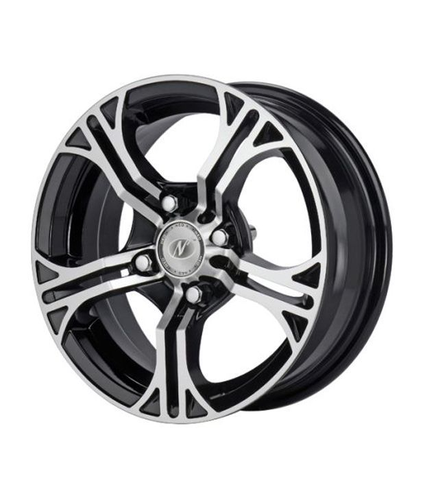 NEO WHEELS - RIOT - BLACK MACHINED - 14 Inch Alloys (Set of 4)
