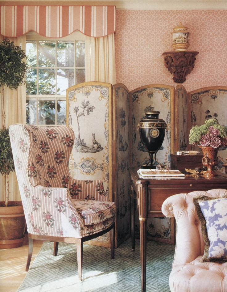 French country style the fabric on the chairs would be for Trend country
