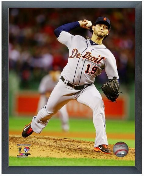 "Anibal Sanchez Tigers Game 1 2013 ALCS - 11"" x 14"" Photo in a Glassless Frame"
