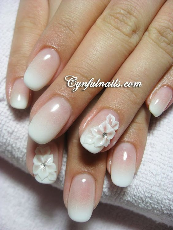 Wedding Nails Ombre French Manicure 2016-17
