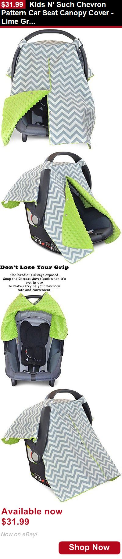 Car Seat Accessories: Kids N Such Chevron Pattern Car Seat Canopy Cover - Lime Green Minky BUY IT NOW ONLY: $31.99