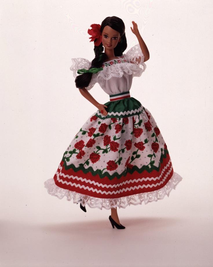 1996MexicanBarbie: Beautiful Barbies, 1995 Barbie Mexicana, 1995 Barbie Messicana, Mexicans, Beautiful Latinas, Mexican Barbie, Latino Barbies, Barbie Collection, Barbie Dolls