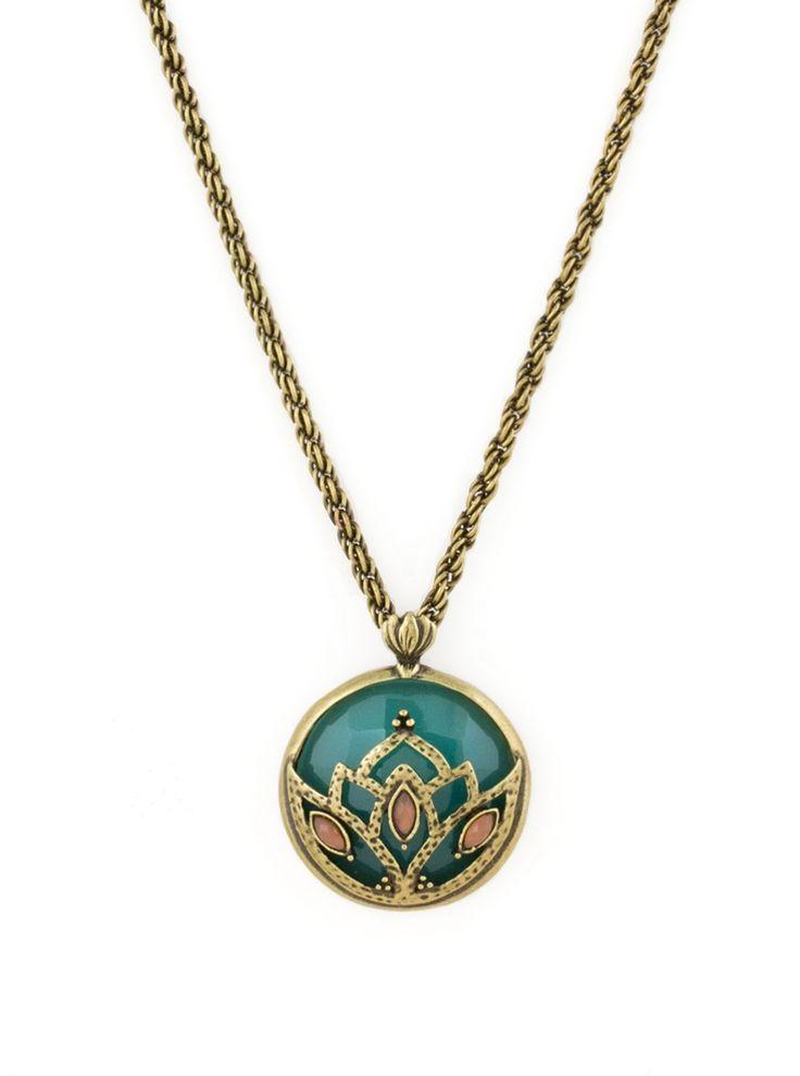 Jade Lotus Pendant | New Arrivals, Greens & Blues, Necklaces, Pendants, BOHO Chic | AMY O. Jewelry