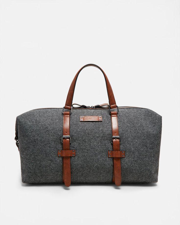 Reisetasche aus Wollgemisch - Grau | Taschen | Ted Baker DE