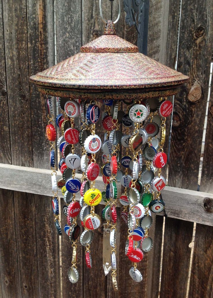 Bottle cap wind chime image only emmilue i 39 ve got about for Bottle cap wind chime