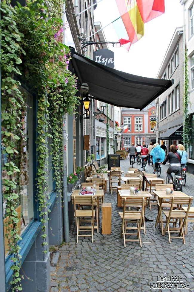 Maastricht, The Netherlands.  I can see myself drinking coffee at one of these tables with my sweet husband.