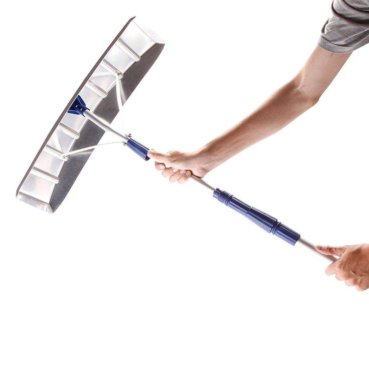 Twist-N-Lock Telescoping Snow Shovel Aluminum Roof Rake .