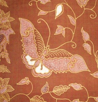 Natural Color Silk Batik – Butterfly & Flower Motif