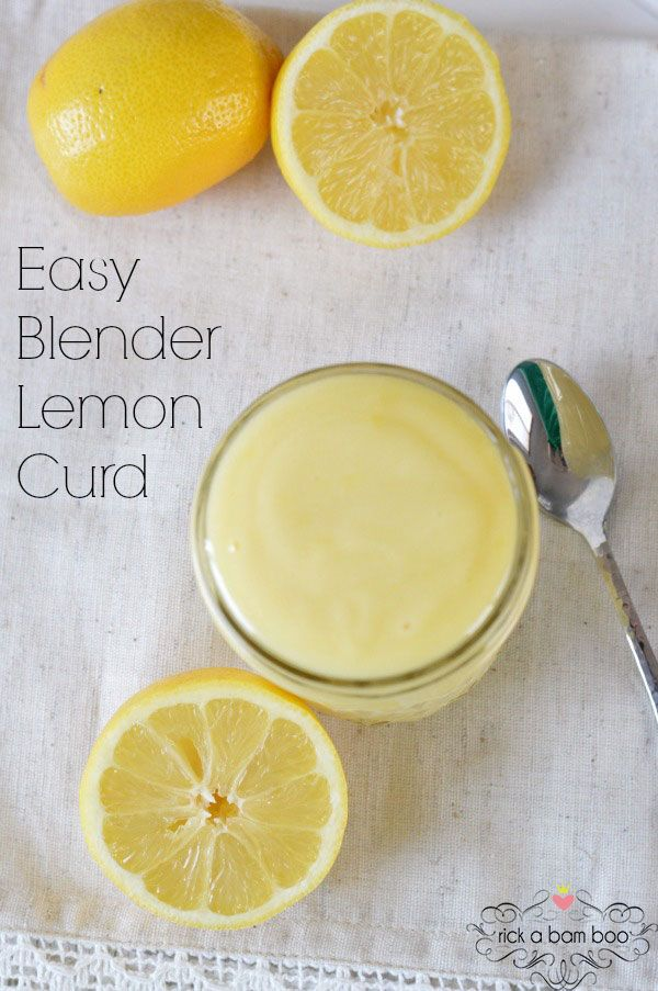 This easy blender lemon curd is ready in six minutes and there's no tempering.