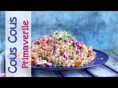 Cous cous di farro monococco con verdure, cozze e germogli. | Video ricetta