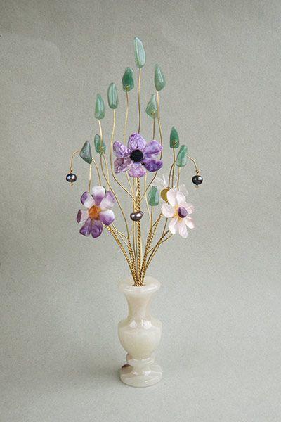 Цветы из камня - Букет для Водолея