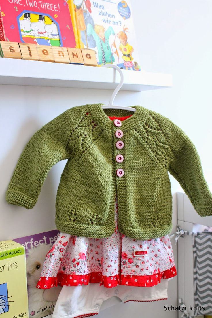 Blogged @ Schatzi's knits: Maile baby cardigan