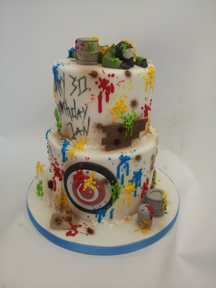 Paintball Cake www.thetinycakeboutique.com