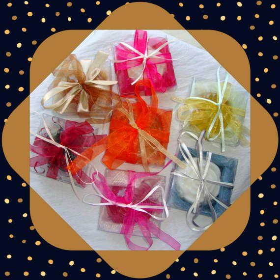 Bridesmaid spa gift, Luxury Handmade soaps, Set of 14 Soaps