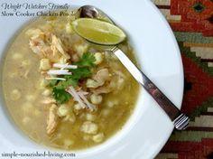 Slow Cooker Chicken Posole Soup #HealthySlowCooker #WeightWatchersCrockPot