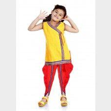 Blue and Green Skirt Top Set for girls EthnicKurtis