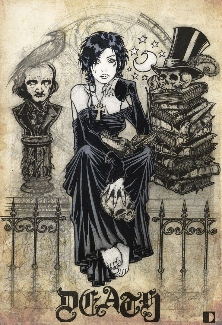 Death of the Endless from Neil Gaiman's Sandman series. Art by spundman on deviantART.