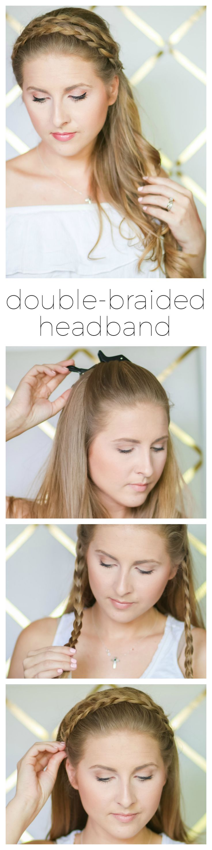 Learn how to create a cute braided headband hairstyle that's perfect for summer days outdoors. This simple, step-by-step tutorial by Ashley Brooke from ashleybrookenicholas.com is quick and easy! I'm also sharing one of favorite new summer hair products from @suavebeauty! #suavebeliever #sponsored