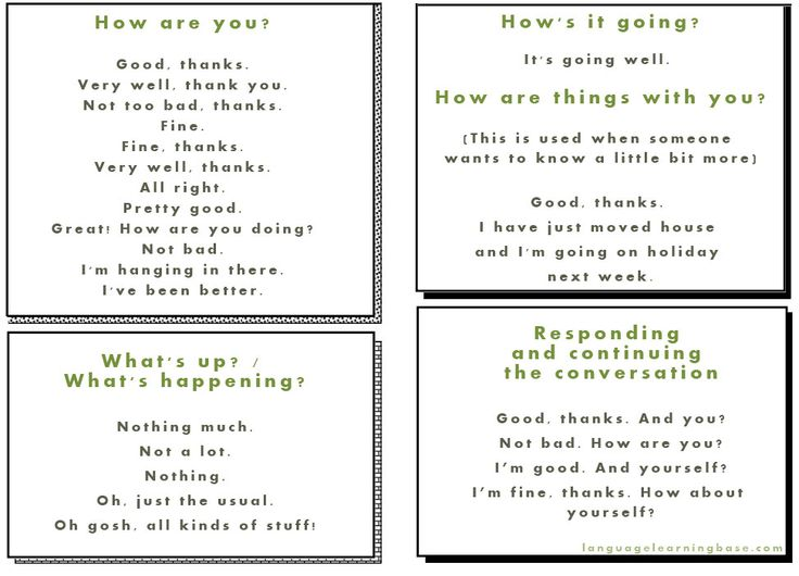 How To Respond To How Are You?....and other conversation starters! - learn English,communication,english