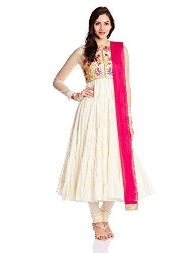 Biba by Rohit Bal Women's Polyester Anarkali Salwar Suit (RB # 3476_OFF WHITE_Large) Biba By Rohit Bal http://www.amazon.in/dp/B00OHC8VBW/ref=cm_sw_r_pi_dp_8DG0ub1AB00ZC