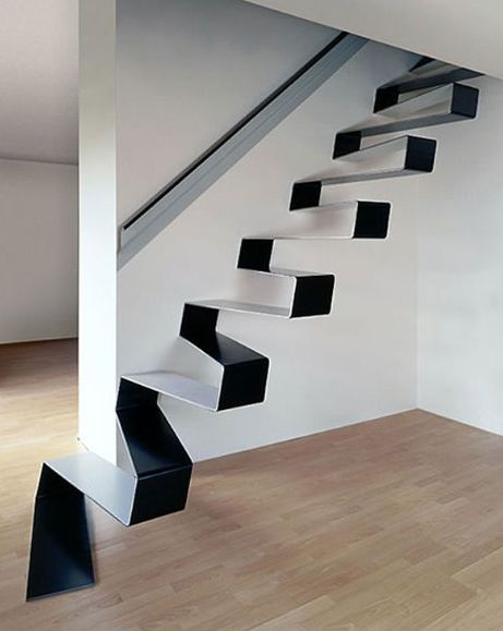 Tohle je opravdu hodně netypické schodiště, co říkáte? Líbí se vám?