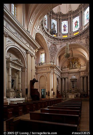 Interior of the Cathedral. Guadalajara, Jalisco, Mexico