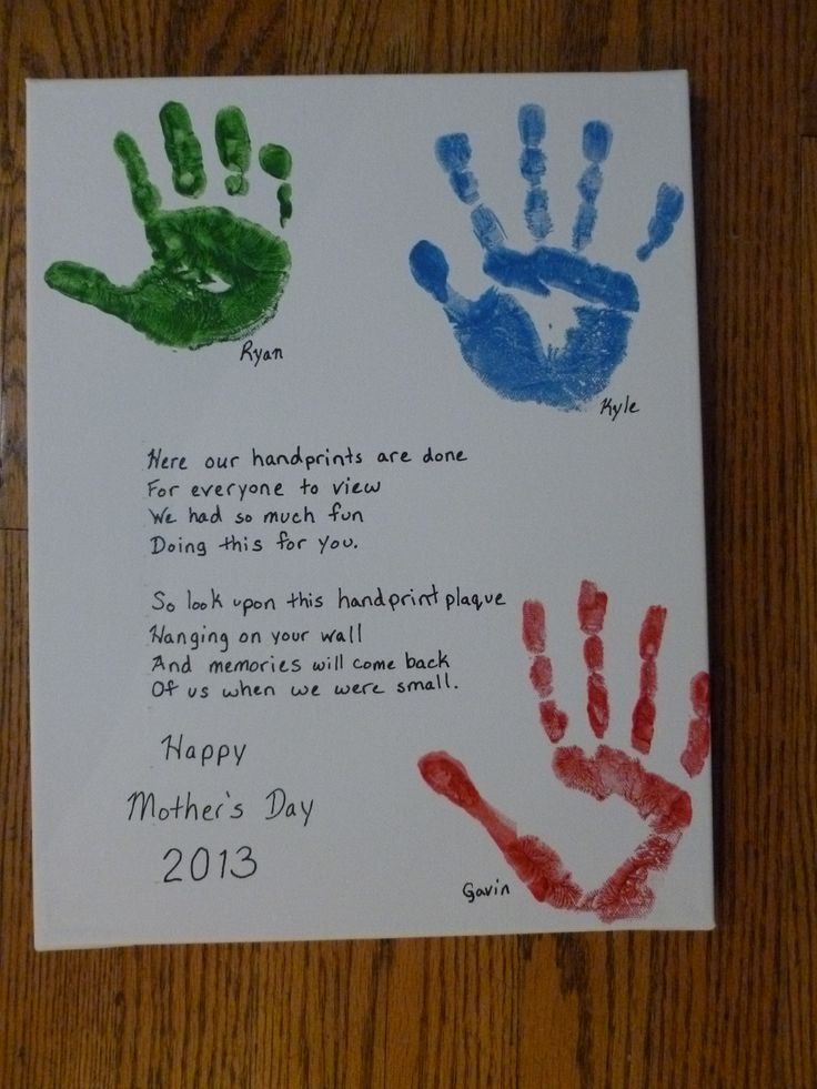 Mother's Day Handprints - but with a different poem than ...