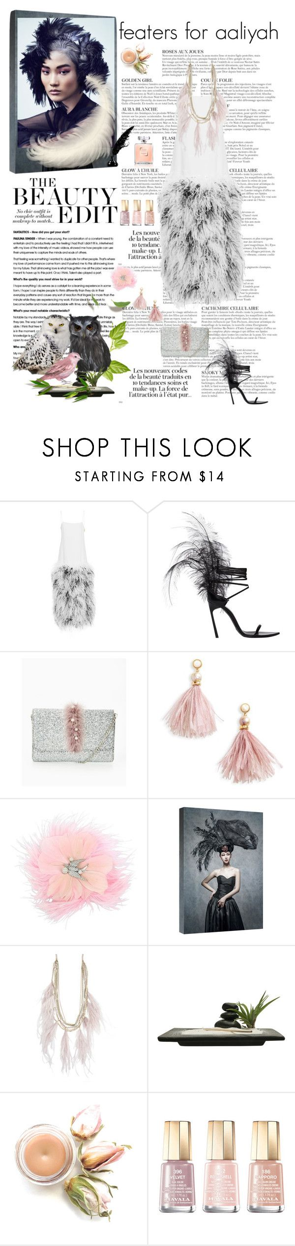 """""""aliyah 2018-022"""" by aaliyah ❤ liked on Polyvore featuring KAROLINA, Yves Saint Laurent, Lizzie Fortunato, Betsey Johnson and Mavala"""