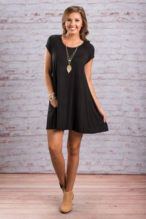 """Way To My Heart Tunic, Black""This is the way to any girl's heart! It's the most perfect, casual LBD! It's jersey knit fabric and it's casual yet still flattering cut make it so easy to wear! #newarrivals #shopthemint"